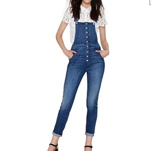 BOBBI Button Front Overalls